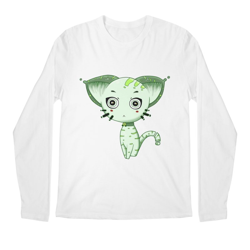Ufo Cat by Lolita Tequila Men's Regular Longsleeve T-Shirt by lolitatequila's Artist Shop