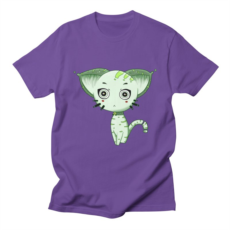 Ufo Cat by Lolita Tequila Men's Regular T-Shirt by lolitatequila's Artist Shop