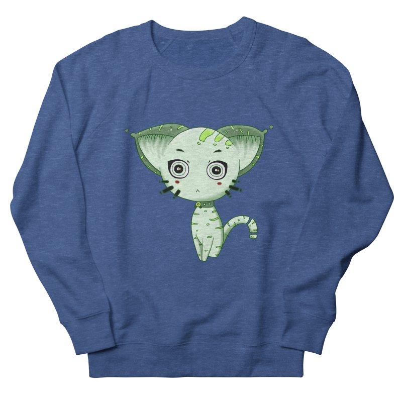 Ufo Cat by Lolita Tequila Women's French Terry Sweatshirt by lolitatequila's Artist Shop
