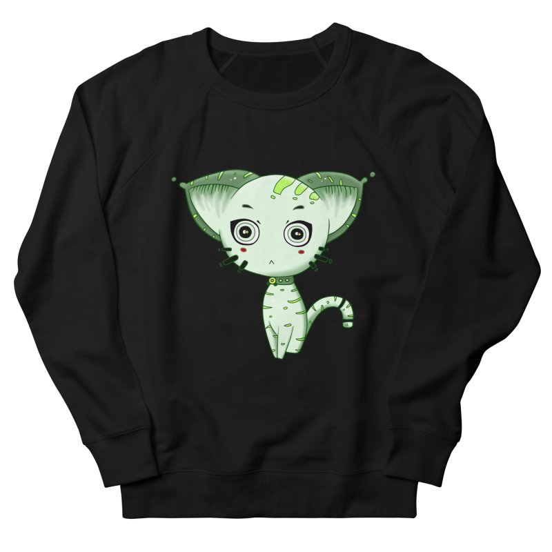 Ufo Cat by Lolita Tequila Women's French Terry Sweatshirt by lolitatequila's Artist Shop