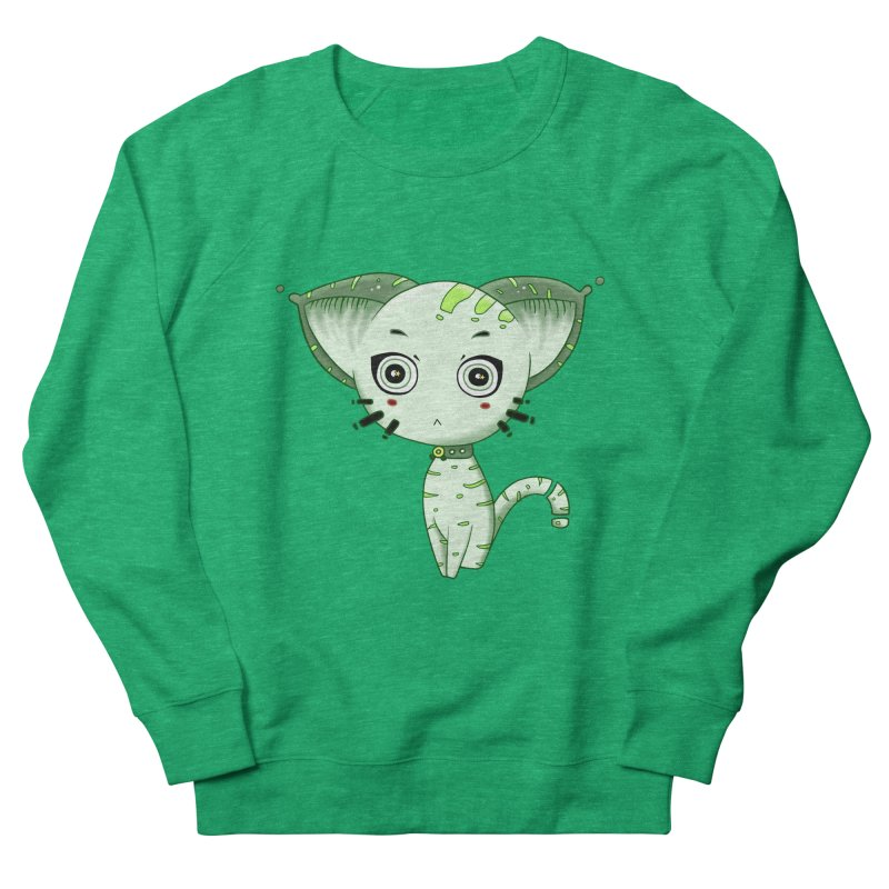 Ufo Cat by Lolita Tequila Men's French Terry Sweatshirt by lolitatequila's Artist Shop