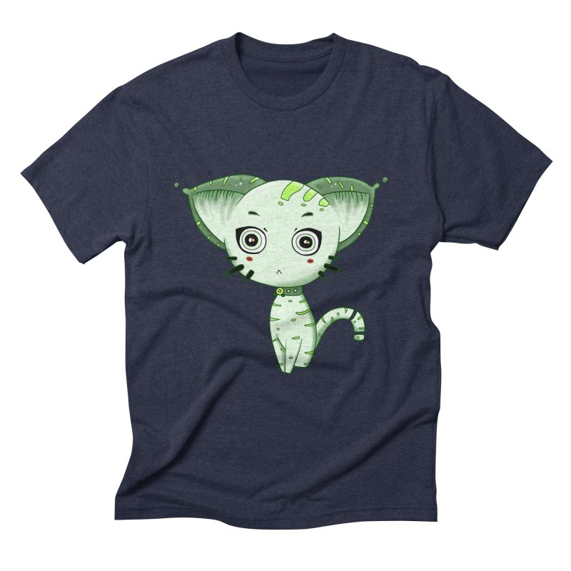 Ufo Cat by Lolita Tequila Men's Triblend T-Shirt by lolitatequila's Artist Shop