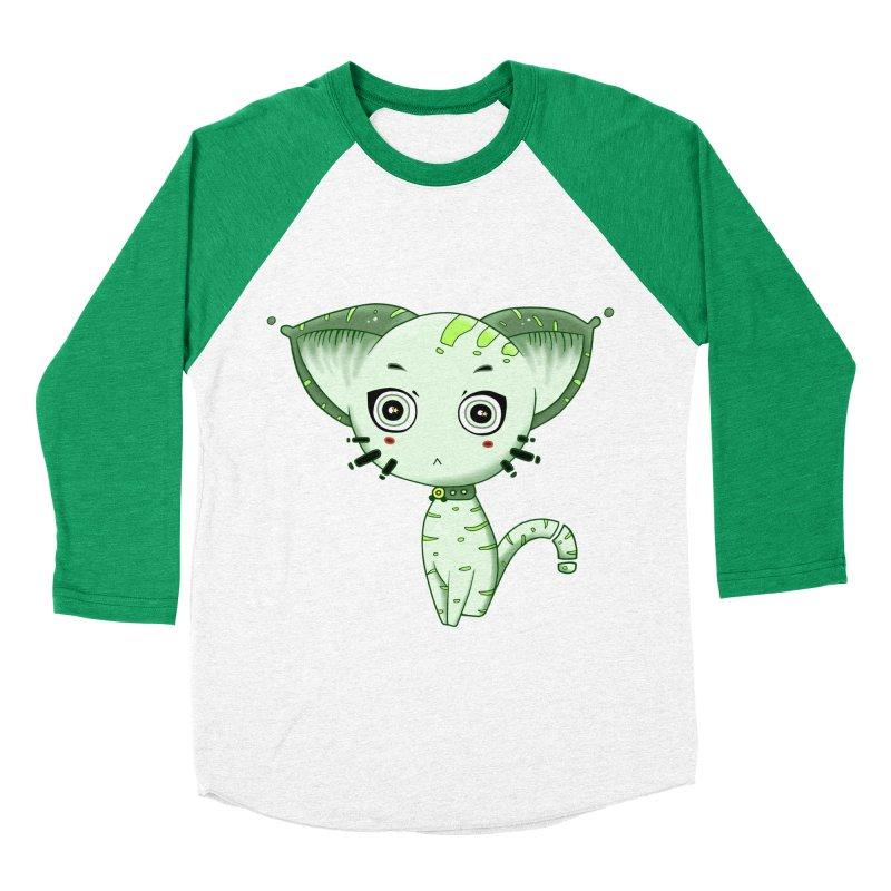 Ufo Cat by Lolita Tequila Women's Baseball Triblend Longsleeve T-Shirt by lolitatequila's Artist Shop