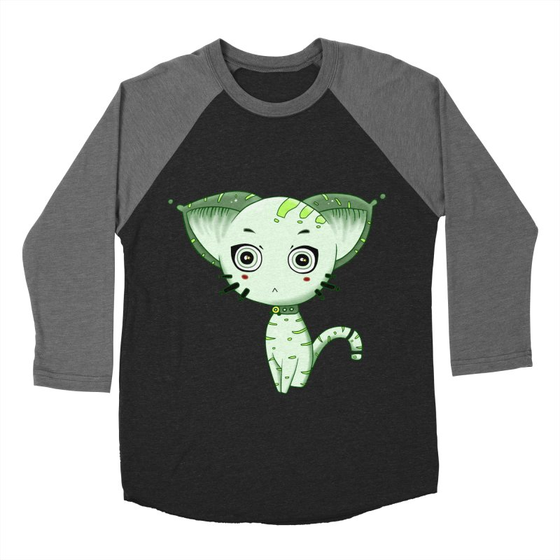 Ufo Cat by Lolita Tequila Men's Baseball Triblend Longsleeve T-Shirt by lolitatequila's Artist Shop