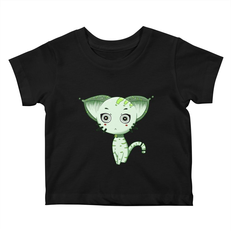 Ufo Cat by Lolita Tequila Kids Baby T-Shirt by lolitatequila's Artist Shop
