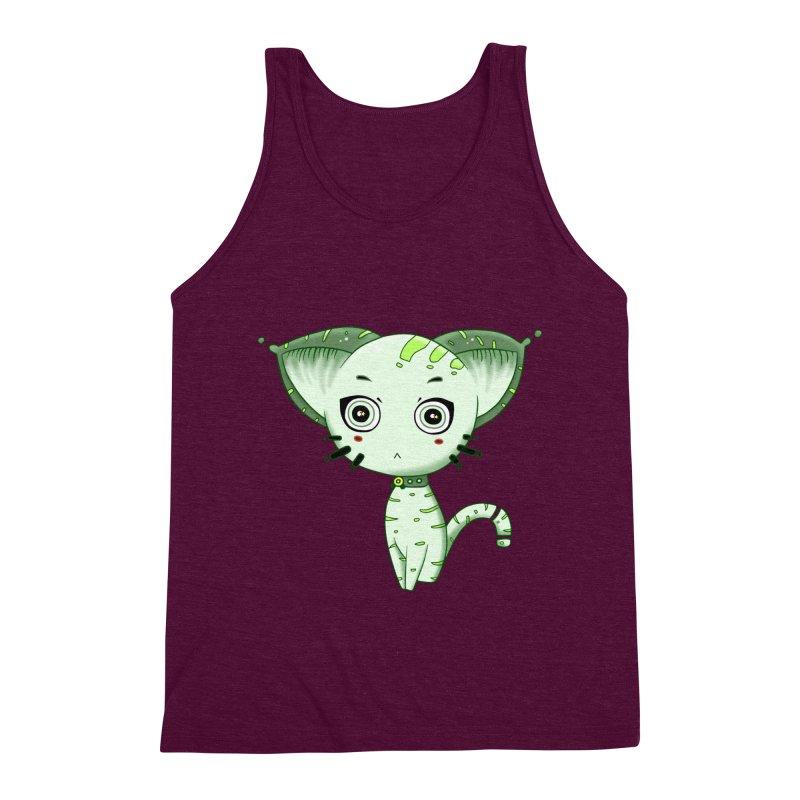 Ufo Cat by Lolita Tequila Men's Tank by lolitatequila's Artist Shop