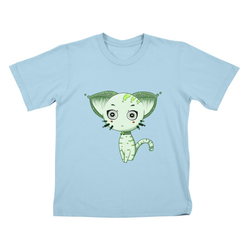 Ufo Cat by Lolita Tequila Kids T-Shirt by lolitatequila's Artist Shop