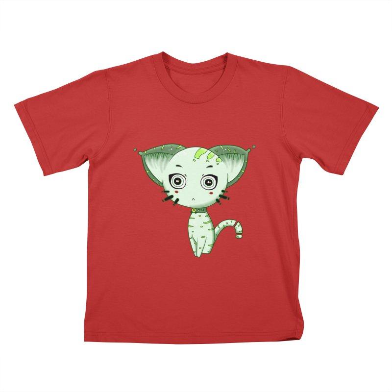 Ufo Cat by Lolita Tequila Kids T-Shirt by lolitatequila's Artist Shop