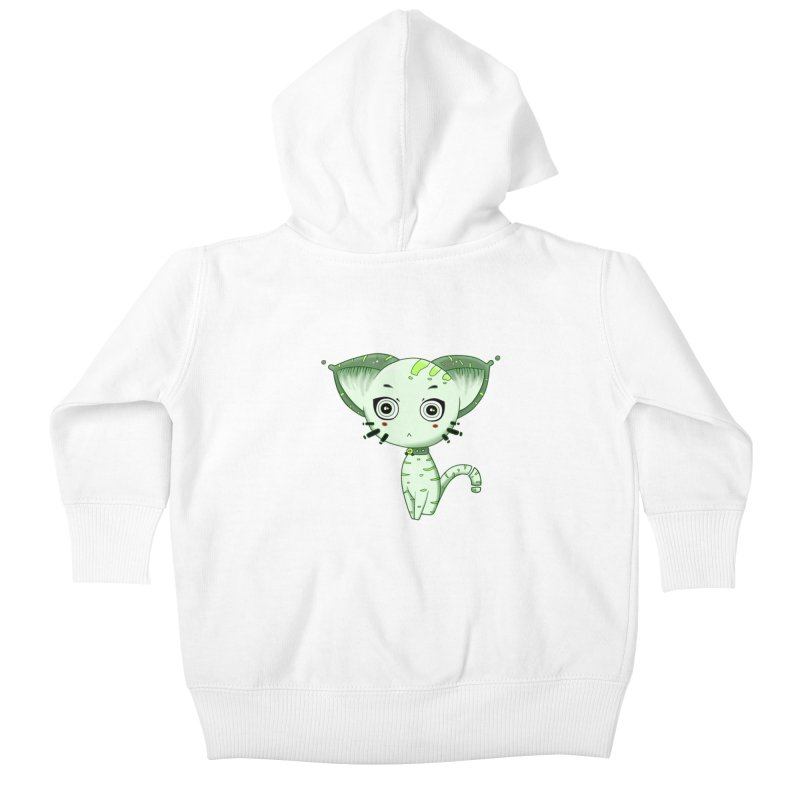 Ufo Cat by Lolita Tequila Kids Baby Zip-Up Hoody by lolitatequila's Artist Shop
