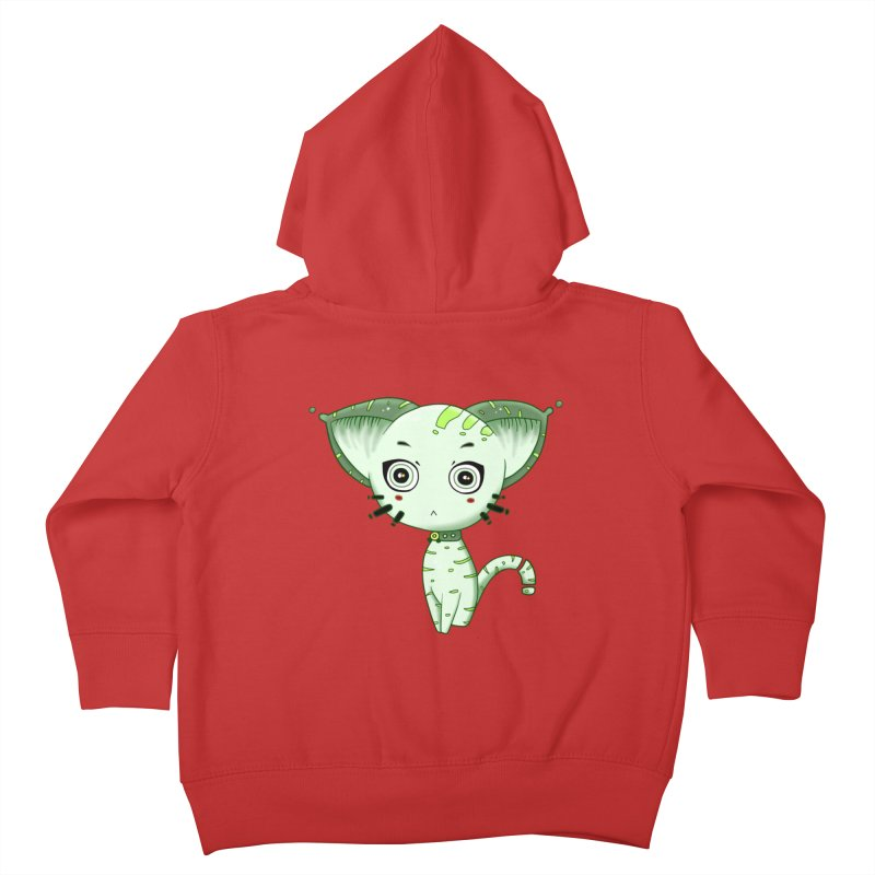 Ufo Cat by Lolita Tequila Kids Toddler Zip-Up Hoody by lolitatequila's Artist Shop