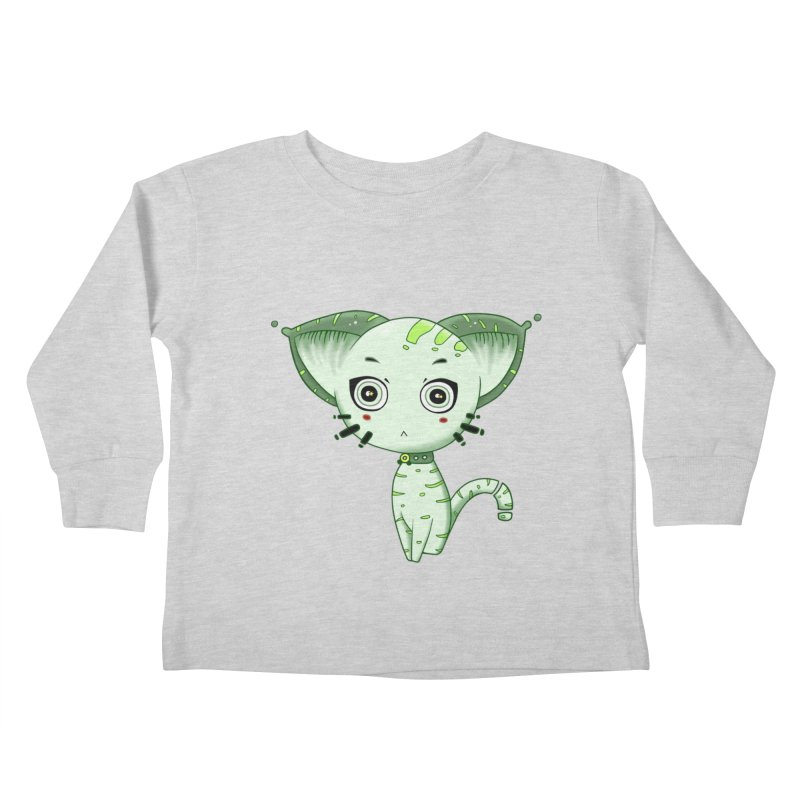 Ufo Cat by Lolita Tequila Kids Toddler Longsleeve T-Shirt by lolitatequila's Artist Shop