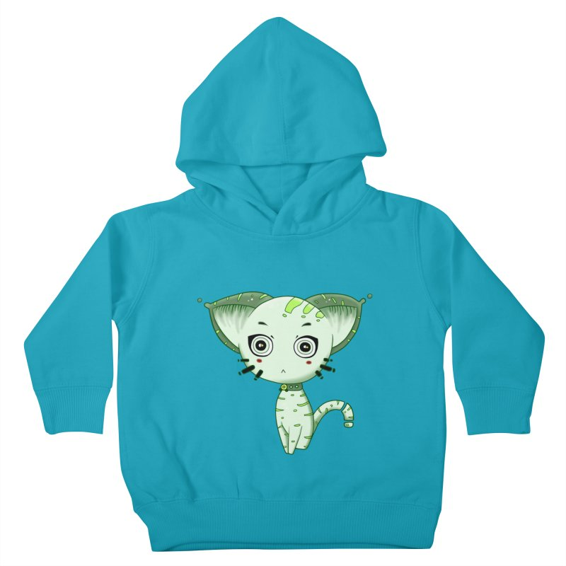 Ufo Cat by Lolita Tequila Kids Toddler Pullover Hoody by lolitatequila's Artist Shop