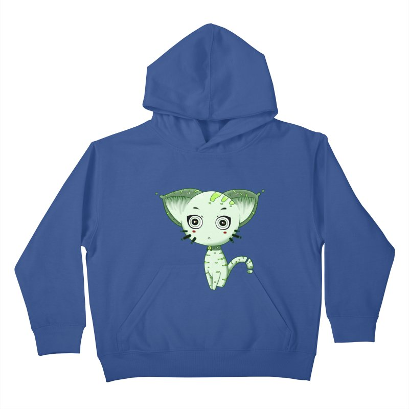 Ufo Cat by Lolita Tequila Kids Pullover Hoody by lolitatequila's Artist Shop