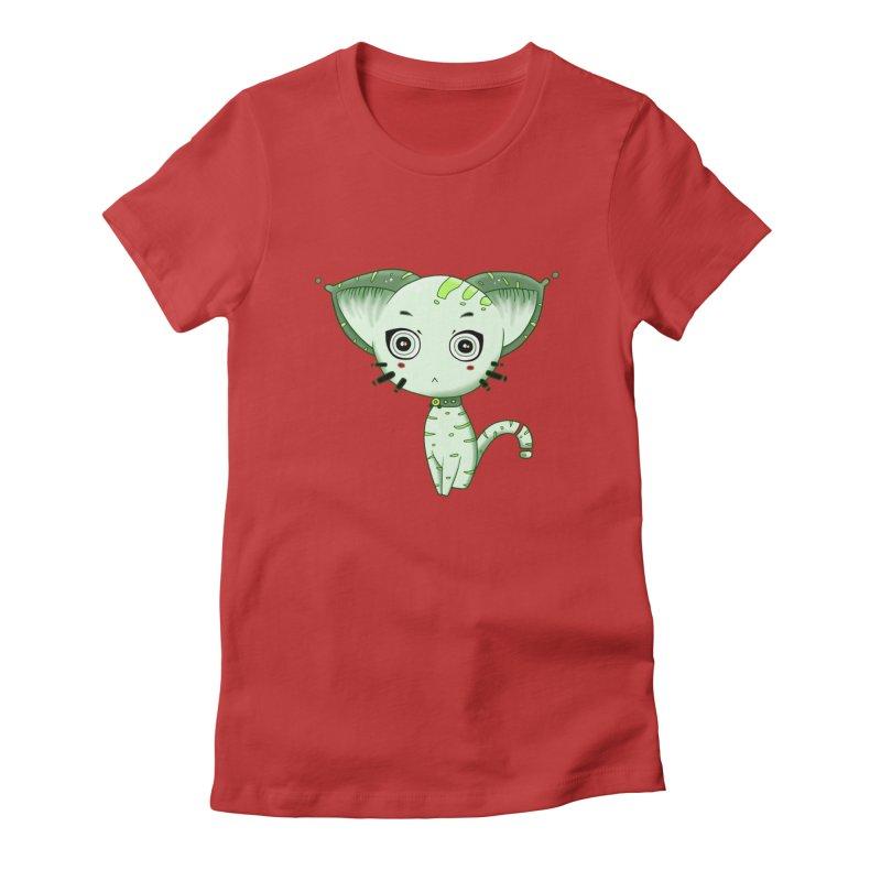 Ufo Cat by Lolita Tequila Women's T-Shirt by lolitatequila's Artist Shop