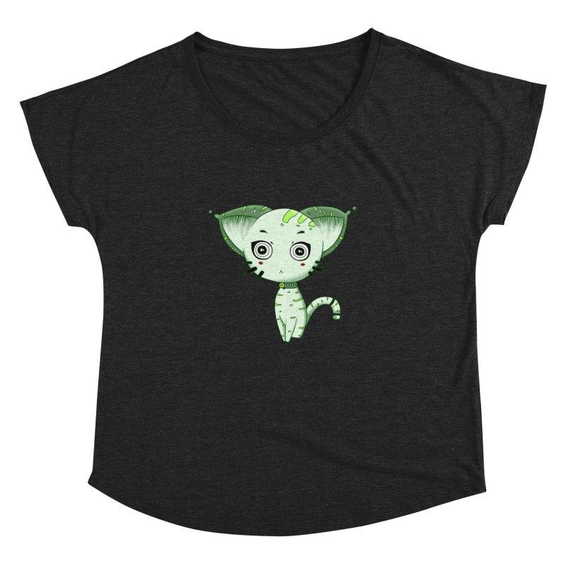 Ufo Cat by Lolita Tequila Women's Dolman Scoop Neck by lolitatequila's Artist Shop