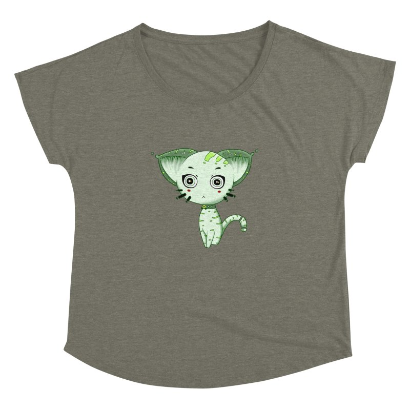 Ufo Cat by Lolita Tequila Women's Scoop Neck by lolitatequila's Artist Shop