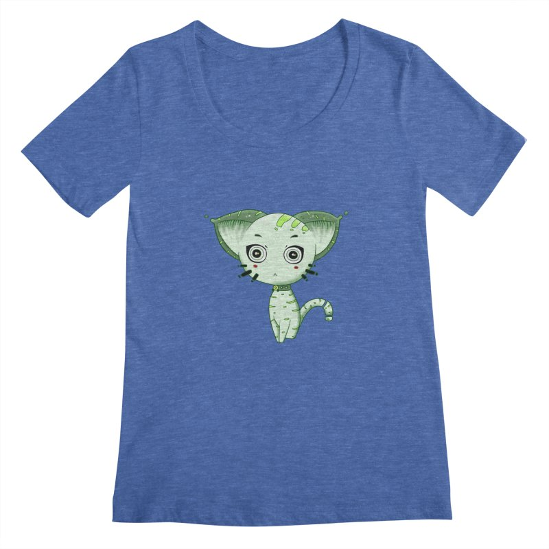 Ufo Cat by Lolita Tequila Women's Scoopneck by lolitatequila's Artist Shop