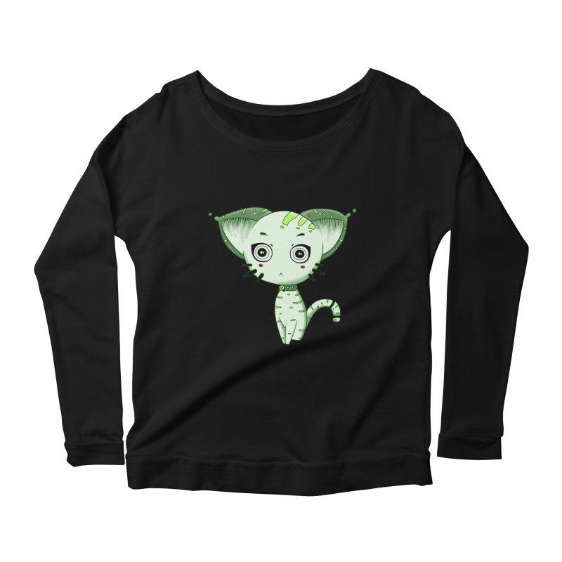 Ufo Cat by Lolita Tequila Women's Scoop Neck Longsleeve T-Shirt by lolitatequila's Artist Shop