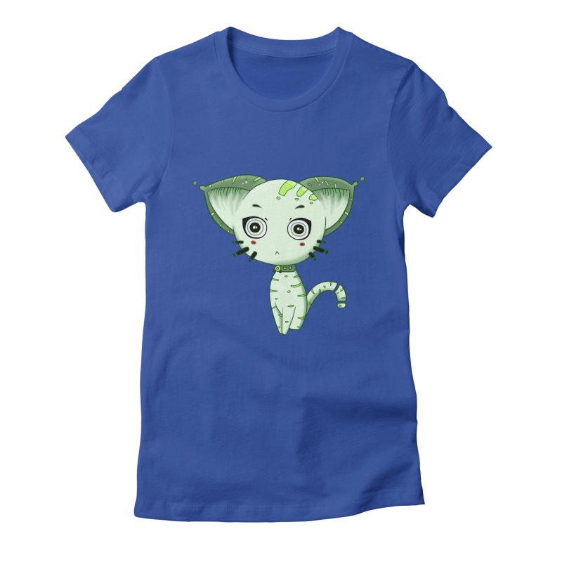 Ufo Cat by Lolita Tequila Women's Fitted T-Shirt by lolitatequila's Artist Shop