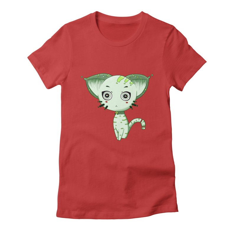 Ufo Cat by Lolita Tequila Women's T-Shirt by lolitatequila's Artist Shop