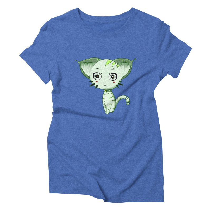 Ufo Cat by Lolita Tequila Women's Triblend T-Shirt by lolitatequila's Artist Shop
