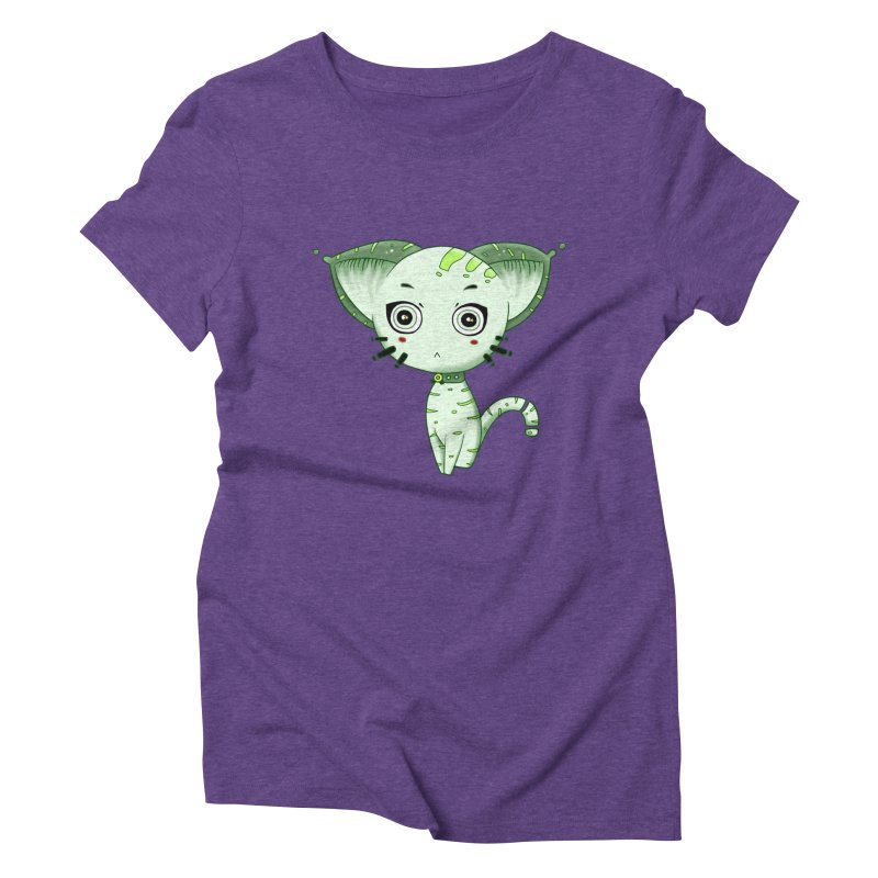 Ufo Cat by Lolita Tequila Women's Triblend T-Shirt by lolitatequila's Artist Shop