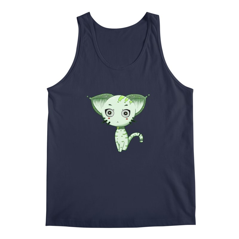 Ufo Cat by Lolita Tequila Men's Tank by lolitatequila's Artist Shop