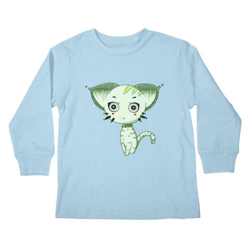 Ufo Cat by Lolita Tequila Kids Longsleeve T-Shirt by lolitatequila's Artist Shop