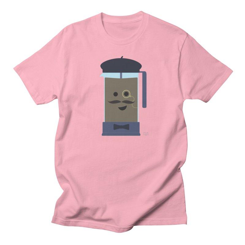 Monsieur Cafetière Men's Regular T-Shirt by lolo designs