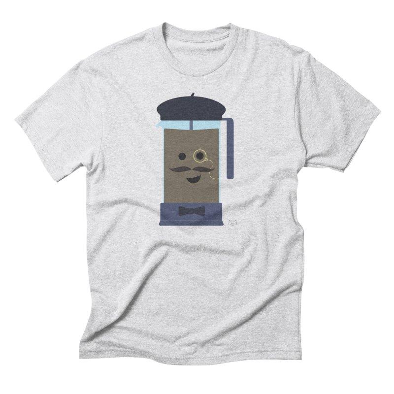Monsieur Cafetière Men's Triblend T-Shirt by lolo designs