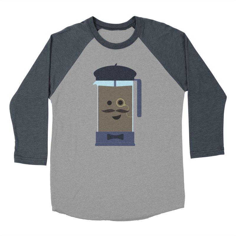 Monsieur Cafetière Men's Baseball Triblend Longsleeve T-Shirt by lolo designs