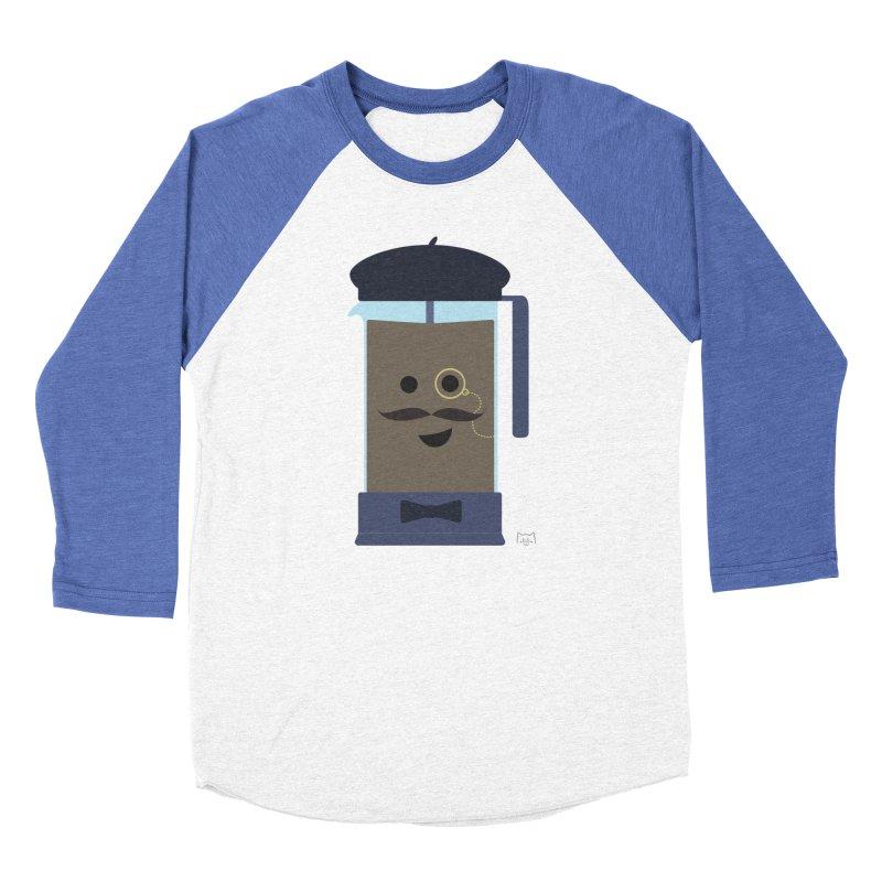 Monsieur Cafetière Men's Baseball Triblend T-Shirt by lolo designs