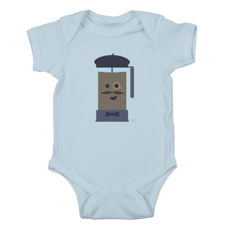 Monsieur Cafetière Kids Baby Bodysuit by lolo designs