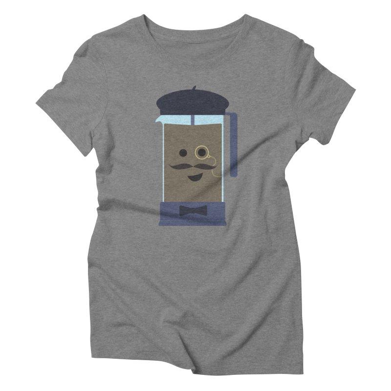 Monsieur Cafetière Women's Triblend T-Shirt by lolo designs