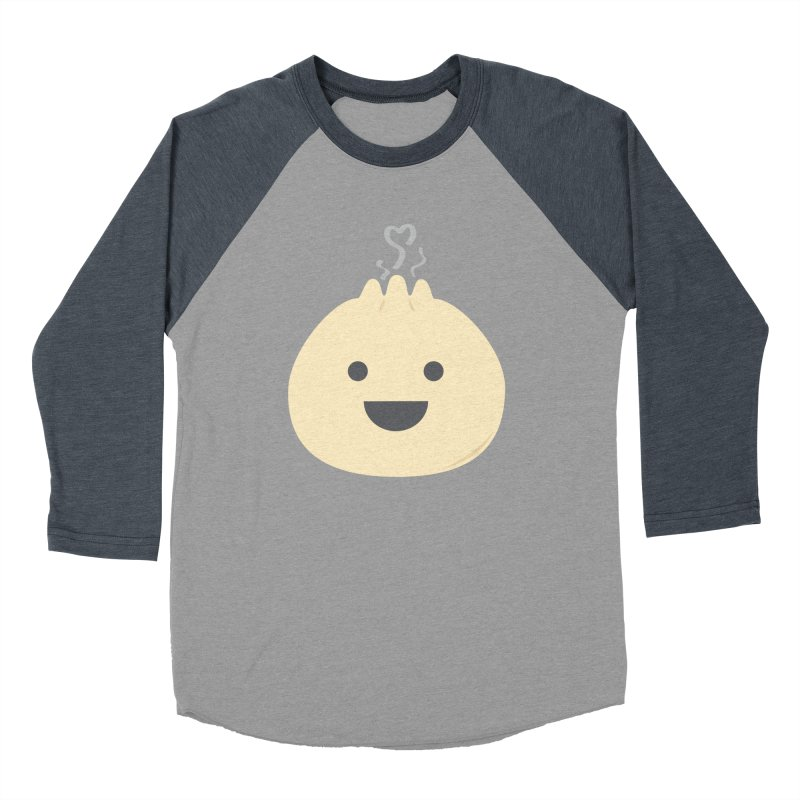 Dumpling to think about Men's Baseball Triblend Longsleeve T-Shirt by lolo designs