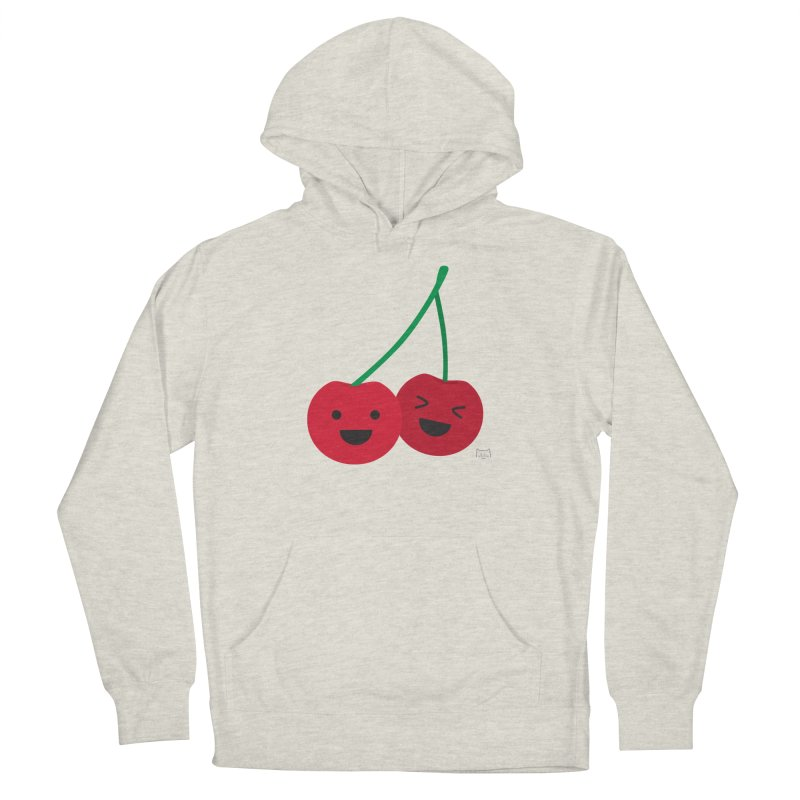 Cherry cute Men's French Terry Pullover Hoody by lolo designs