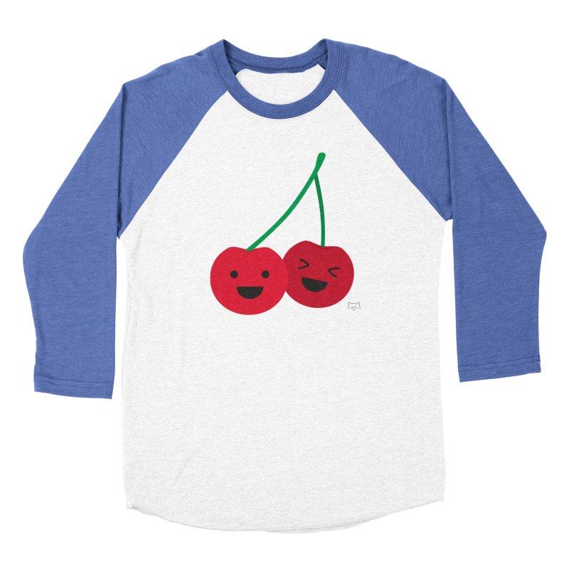 Cherry cute Women's Baseball Triblend T-Shirt by lolo designs