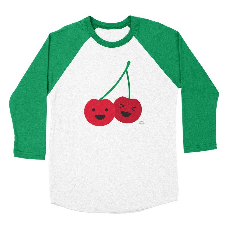 Cherry cute Women's Baseball Triblend Longsleeve T-Shirt by lolo designs