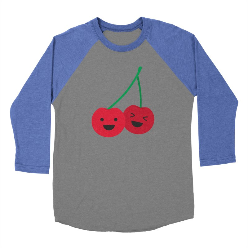 Cherry cute Men's Baseball Triblend T-Shirt by lolo designs