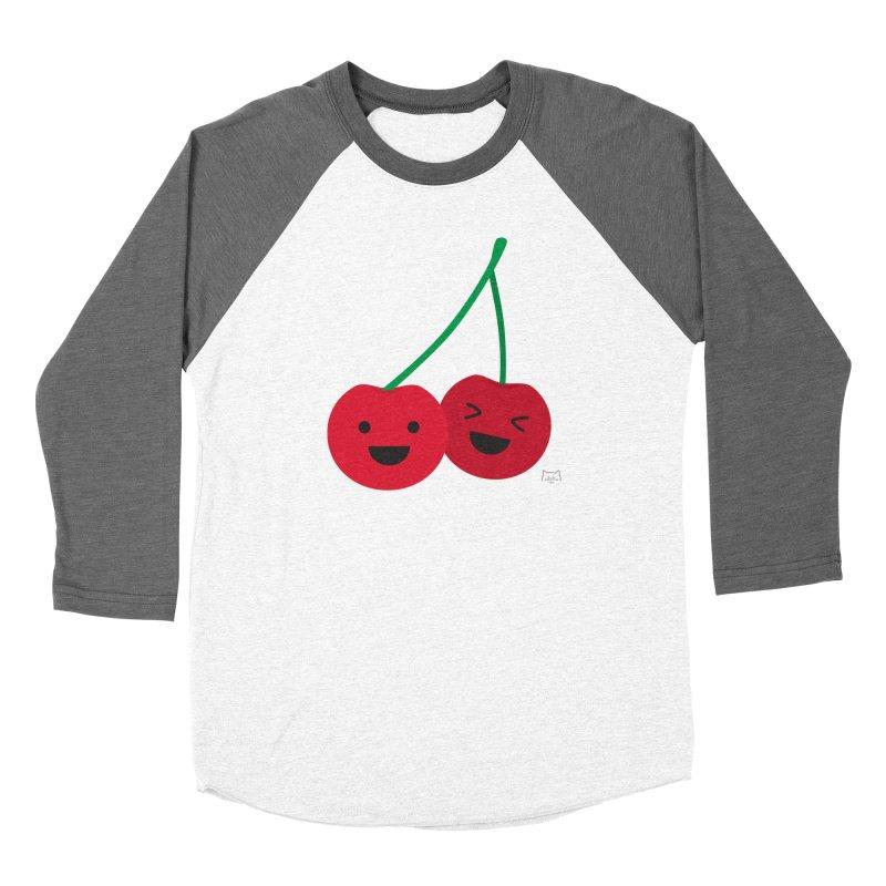 Cherry cute Men's Baseball Triblend Longsleeve T-Shirt by lolo designs