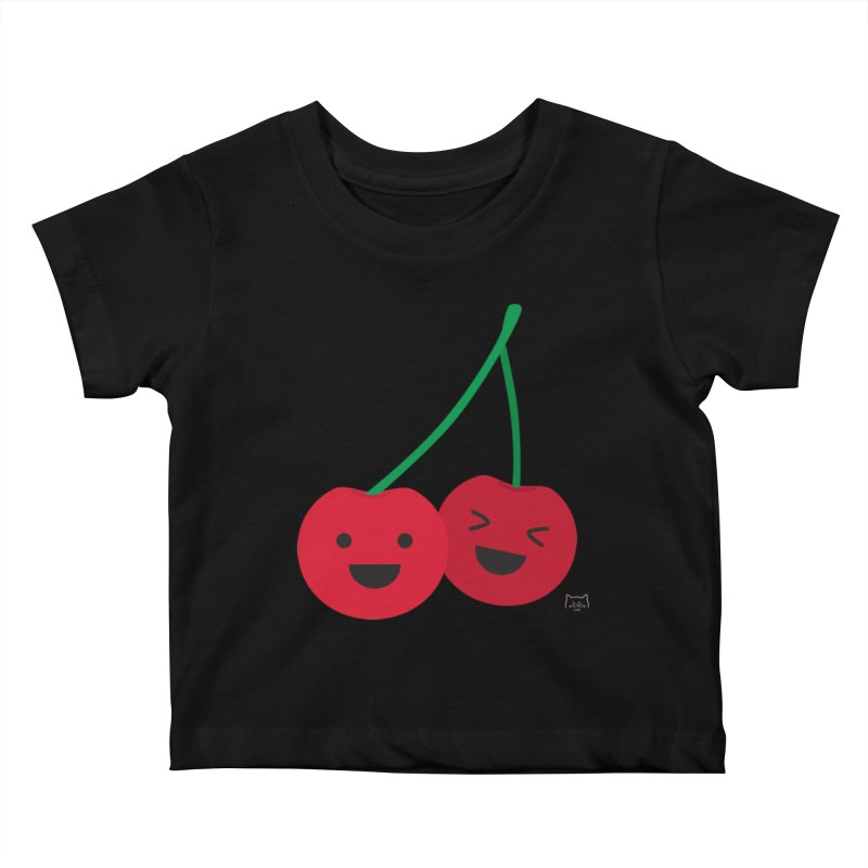 Cherry cute Kids Baby T-Shirt by lolo designs