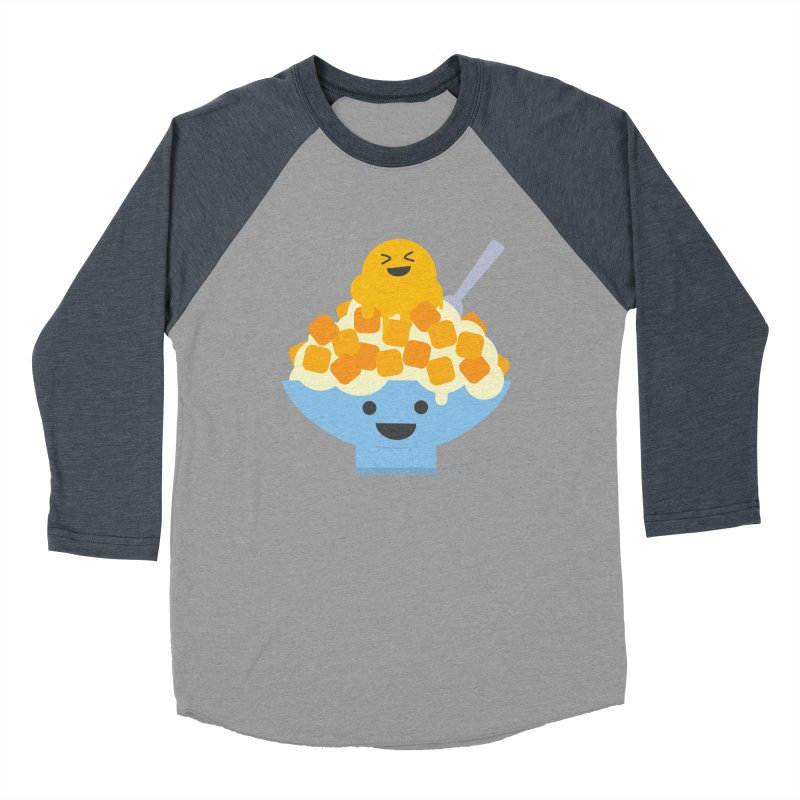 Ice Ice Mango Men's Baseball Triblend Longsleeve T-Shirt by lolo designs