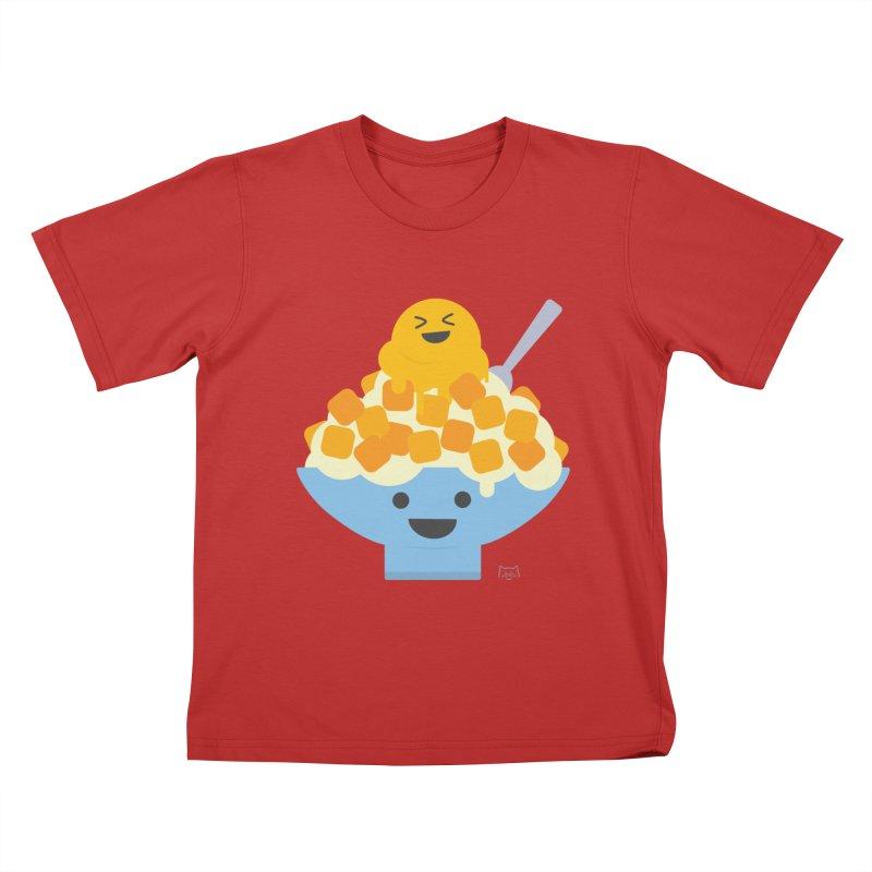 Ice Ice Mango Kids T-Shirt by lolo designs