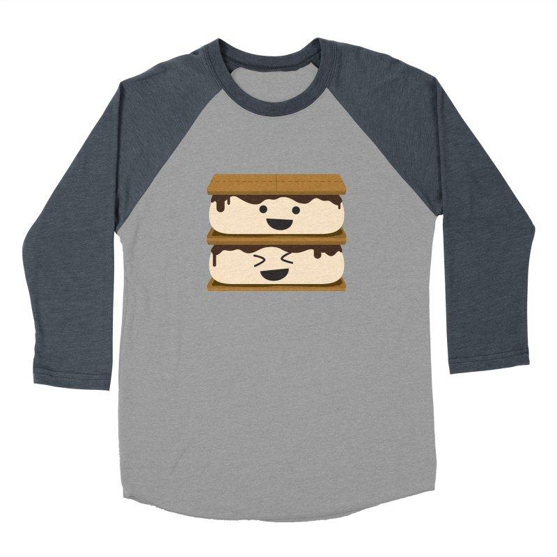 S'more fun Men's Baseball Triblend Longsleeve T-Shirt by lolo designs