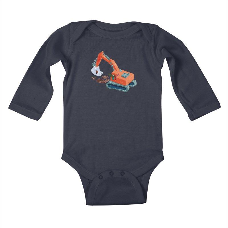 Croco Digger Kids Baby Longsleeve Bodysuit by lomp's Artist Shop