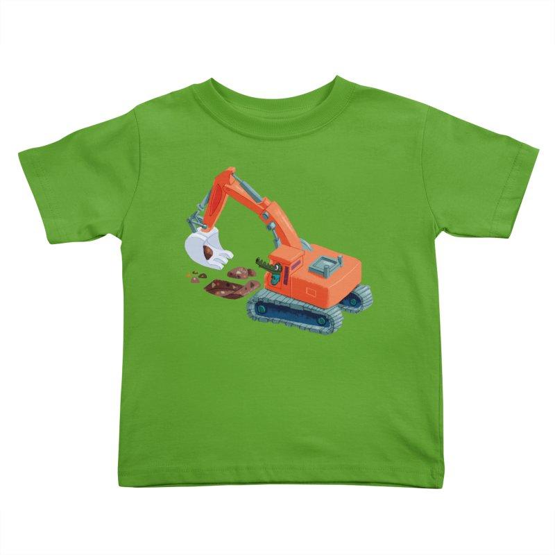 Croco Digger Kids Toddler T-Shirt by lomp's Artist Shop