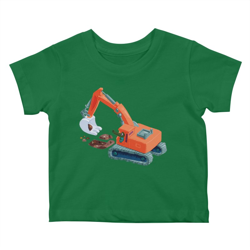 Croco Digger Kids Baby T-Shirt by lomp's Artist Shop