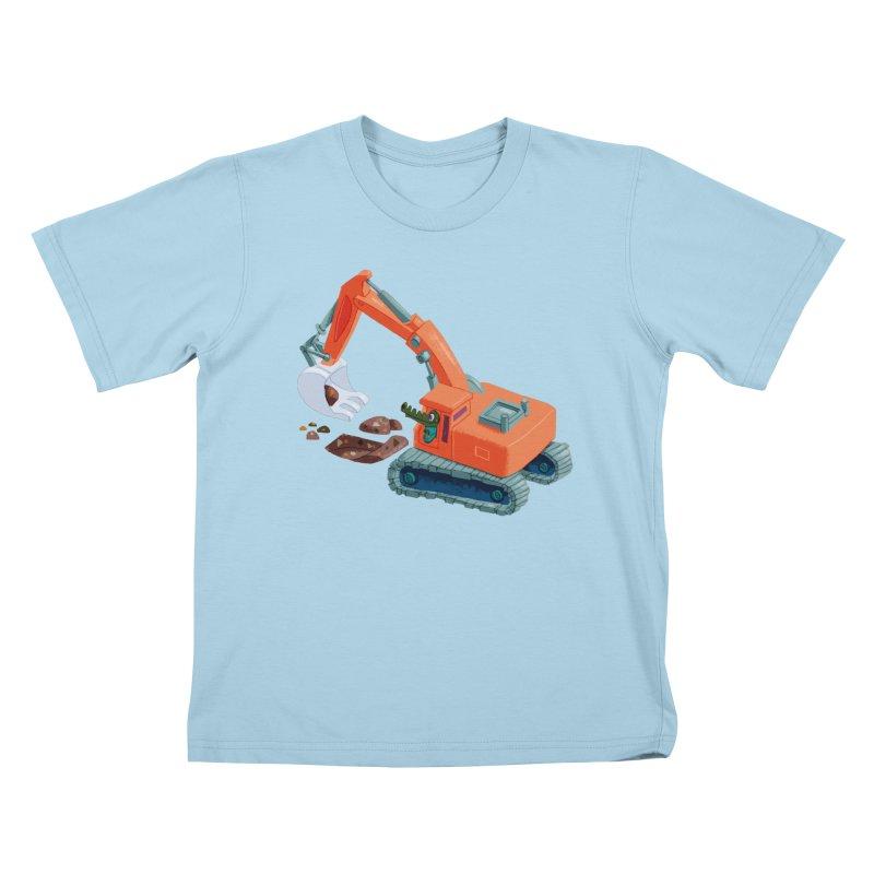 Croco Digger Kids T-Shirt by lomp's Artist Shop