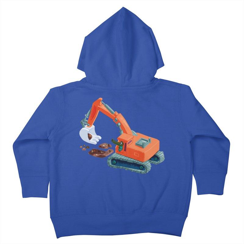 Croco Digger Kids Toddler Zip-Up Hoody by lomp's Artist Shop