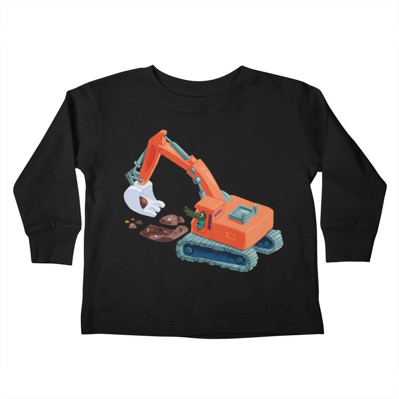 Croco Digger Kids Toddler Longsleeve T-Shirt by lomp's Artist Shop